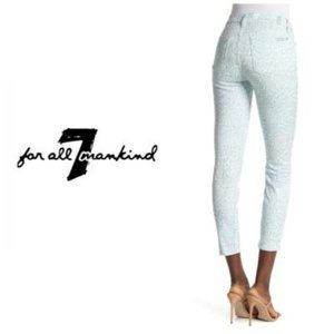 7 For All Mankind Gwen Leopard Print Ankle Skinny
